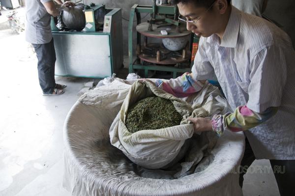 Встряхивание чая Те Гуань Инь