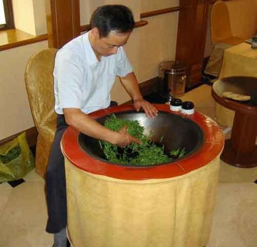 Скручивание чайных листьев